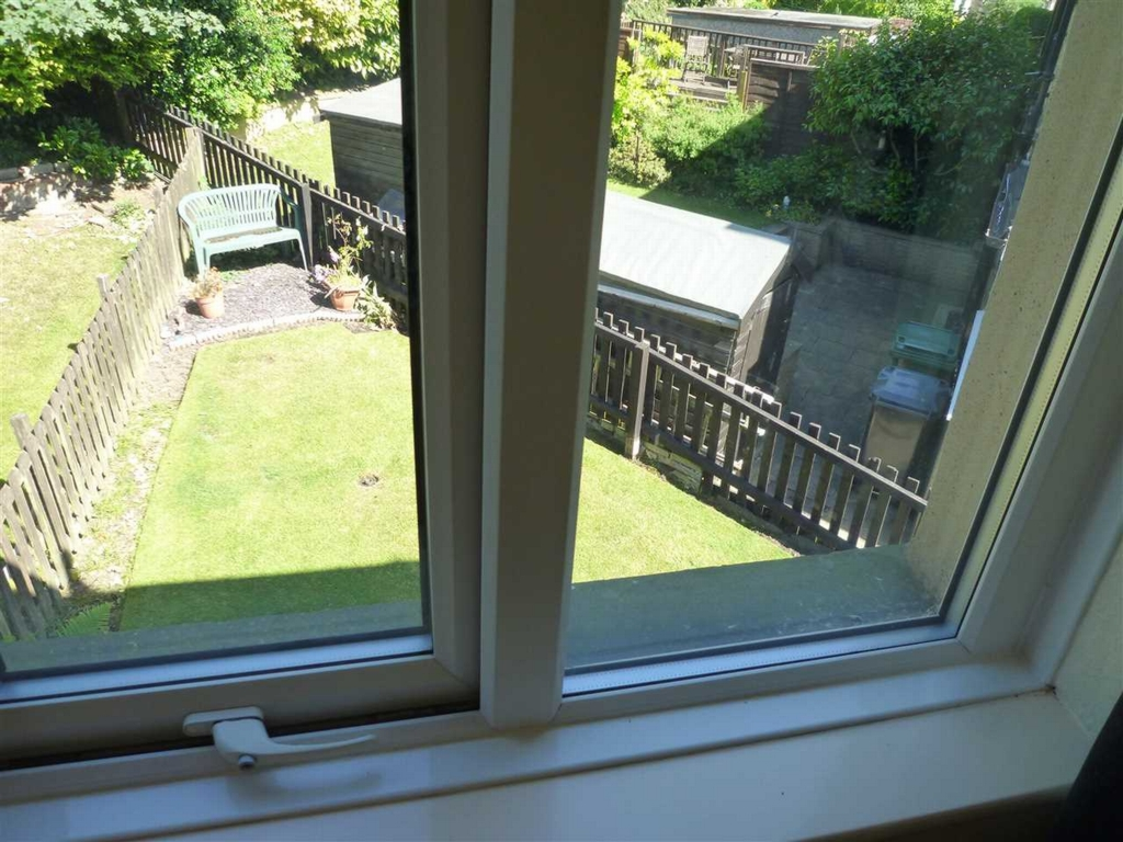 View Of Rear Garden From Bedroom Two