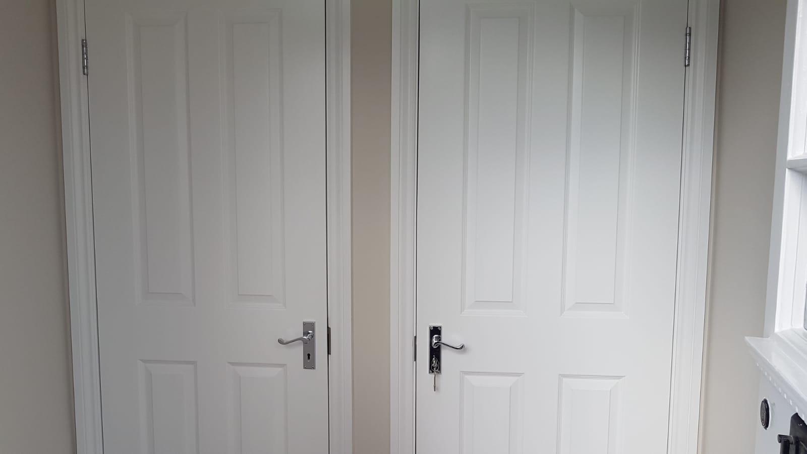 Flat entrance doors