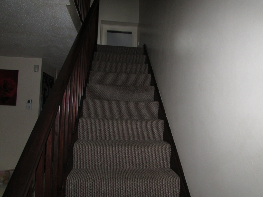 Stairs to landing