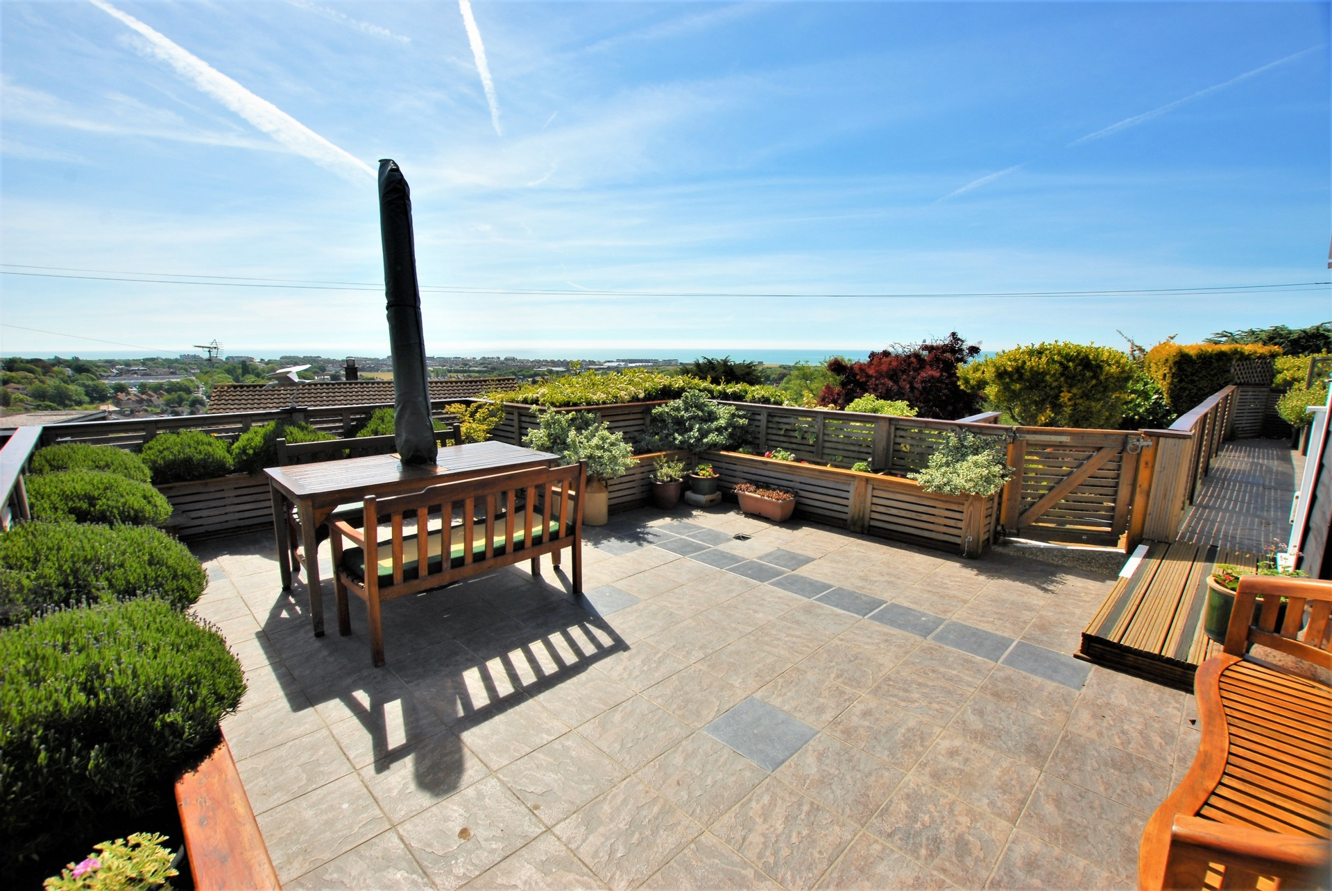 Terrace and view, Redbrooks Way, Hythe, CT21