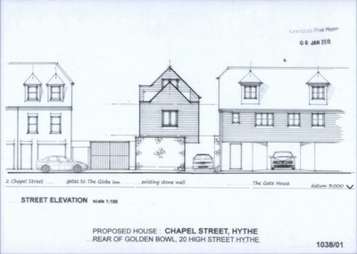 Street Elevation, Chapel Street, Hythe, CT21