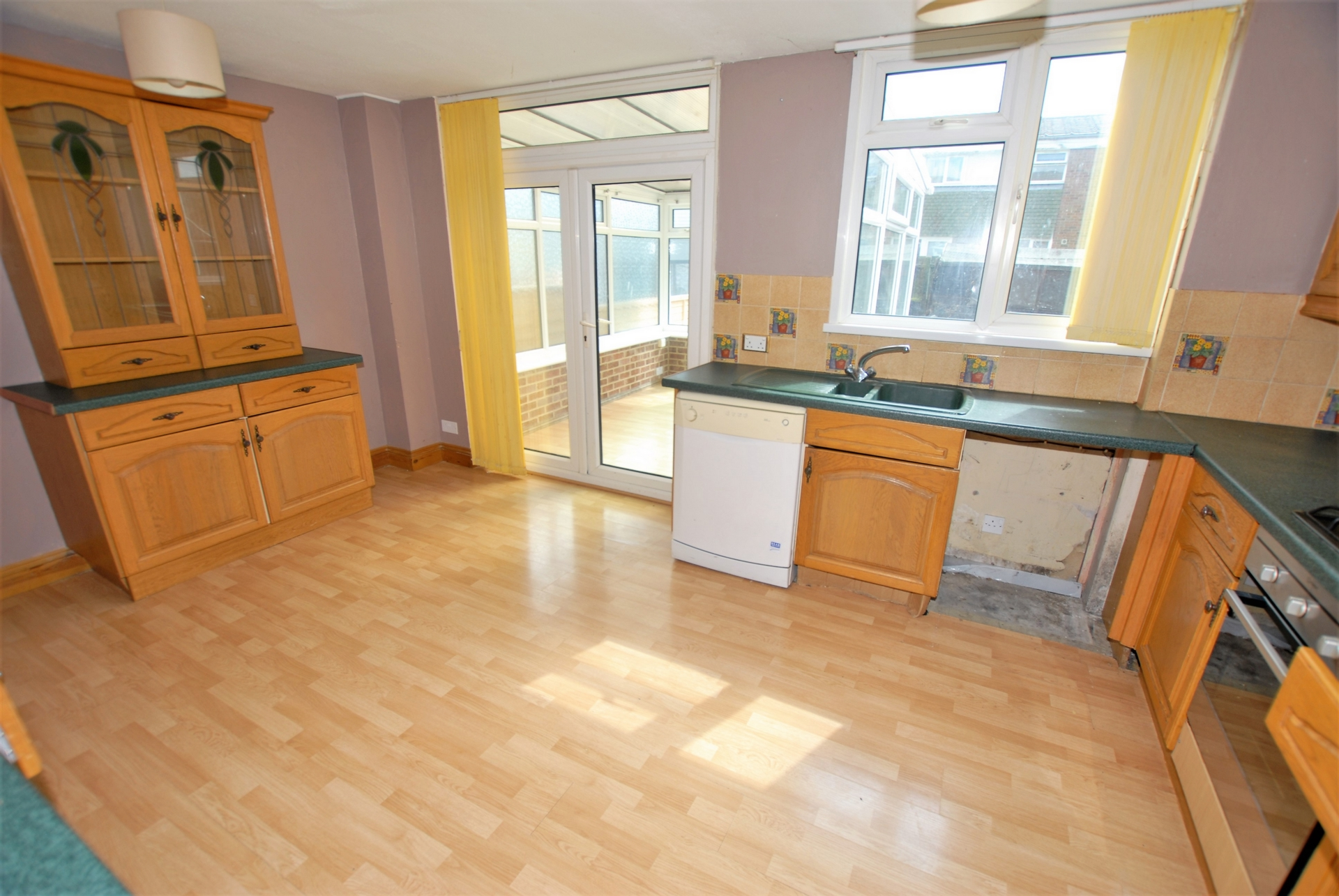 Kitchen/dining rm