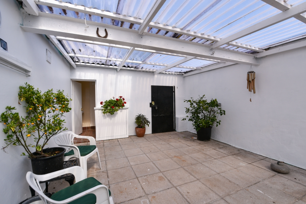 Roofed patio