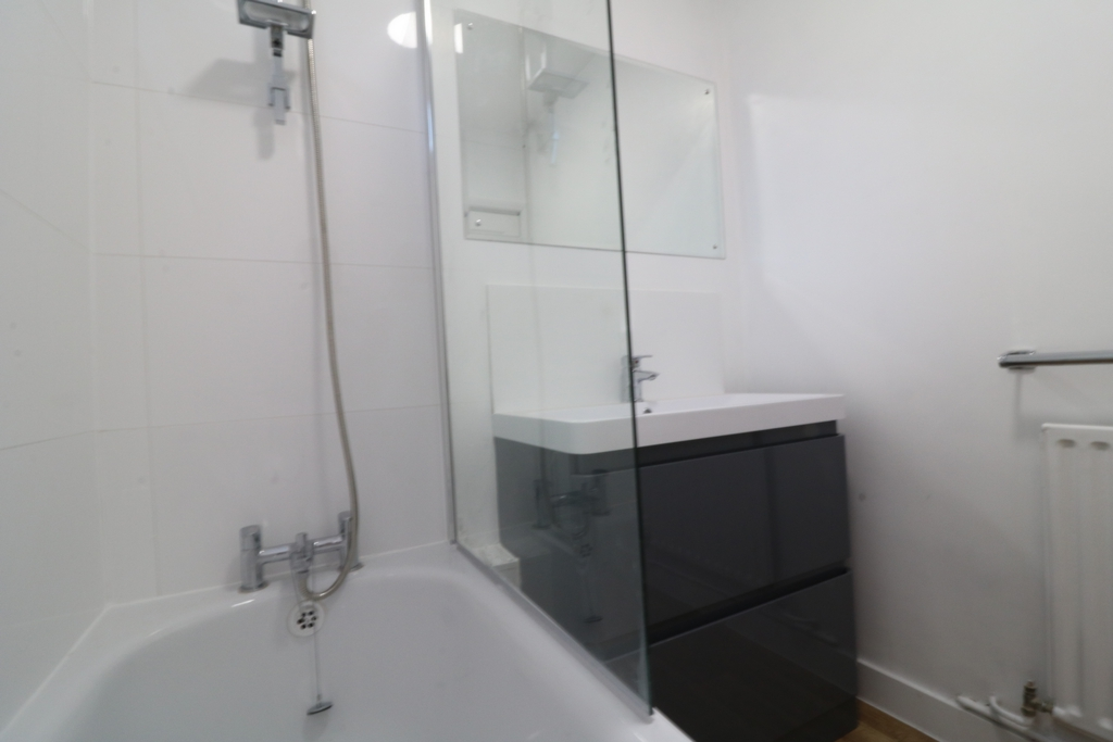 New shower over bath