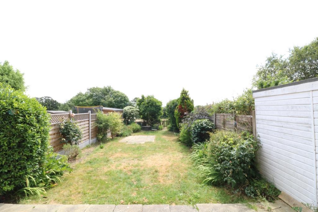 mature rear garden