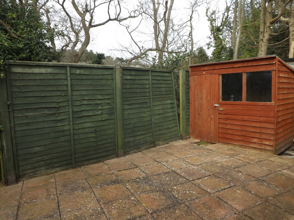 Rear garden, level three with shed