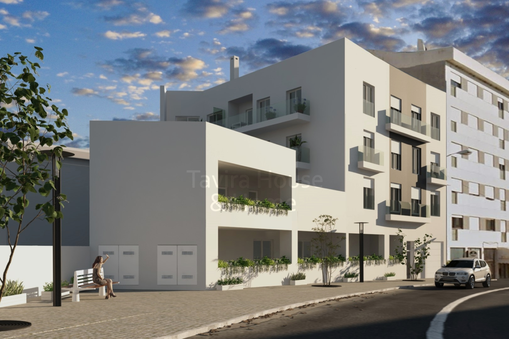 A0624 - New 3 Bedroom Apartments Under Construction  Central Tavira  Portugal